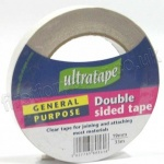 Double Sided Clear Tape, 19mm x 33m