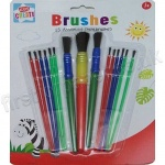 15 Assorted Childrens Paint Brushes