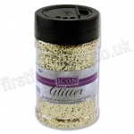 Icon Glitter, Medium Sized Flake, 110g - Gold