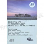 Glossy Inkjet Paper, 180gsm, A3 - 25 sheets