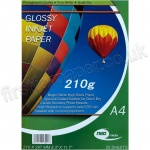 Glossy Inkjet Paper, 210gsm, A4 - 20 sheets