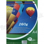 Glossy Inkjet Paper, 260gsm, A4 - 20 sheets
