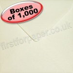 Anvil Hammer, Textured Greetings Card Envelope, 155 x 155mm, Ivory - 1,000 Envelopes