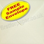 •Sample Anvil Hammer Textured Envelope, 155 x 155mm Square, Ivory