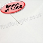 Anvil Hammer, Textured Greetings Card Envelope, 155 x 155mm, White - 1,000 Envelopes