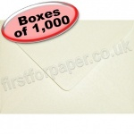 Anvil Hammer, Textured Greetings Card Envelope, C6 (114 x 162mm), Ivory - 1,000 Envelopes