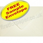 •Sample Anvil Hammer Textured Envelope, C6, Ivory