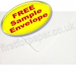 •Sample Anvil Hammer Textured Envelope, C6, White