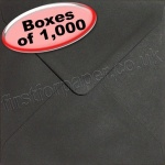 Spectrum Greetings Card Envelope, 130 x 130mm, Black - 1,000 Envelopes