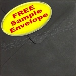 •Sample Spectrum Envelope, 130 x 130mm, Black