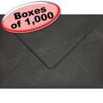 Spectrum Greetings Card Envelope, 133 x 184mm, Black - 1,000 Envelopes