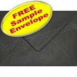 •Sample Spectrum Envelope, 133 x 184mm, Black