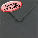 Spectrum Greetings Card Envelope, 155 x 155mm, Black - 1,000 Envelopes