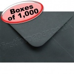 Spectrum Greetings Card Envelope, C6 (114 x 162mm), Black - 1,000 Envelopes