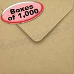 Fleck Kraft Recycled Envelope, 130 x 130mm - 1,000 Envelopes