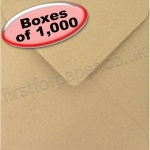 Fleck Kraft Recycled Envelope, 165 x 165mm - 1,000 Envelopes