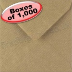 Spectrum Greetings Card Envelope, 130 x 130mm, Ribbed Kraft - 1,000 Envelopes