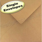 Spectrum Greetings Card Envelope, 165 x 165mm, Ribbed Kraft