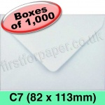 Rapid Recycled Envelope, C7 (82 x 113mm), White - 1,000 Envelopes