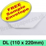 •Sample Rapid Recycled Envelope, DL (110 x 220mm), White