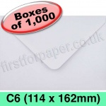 Rapid Recycled Envelope, C6 (114 x 162mm), White - 1,000 Envelopes