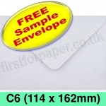 •Sample Rapid Recycled Envelope, C6 (114 x 162mm), White