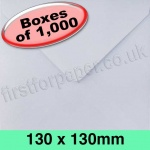 Rapid Recycled Envelope, 130 x 130mm, White - 1,000 Envelopes
