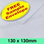 •Sample Rapid Recycled Envelope, 130 x 130mm, White