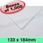 Rapid Recycled Envelope, 133 x 184mm, White - 1,000 Envelopes