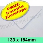 •Sample Rapid Recycled Envelope, 133 x 184mm, White