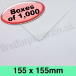 Rapid Recycled Envelope, 155 x 155mm, White - 1,000 Envelopes