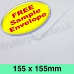 •Sample Rapid Recycled Envelope, 155 x 155mm, White