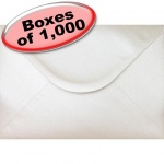 Spectrum Greetings Card Envelope, C5 (162 x 229mm), Pearlescent Oyster White - 1,000 Envelopes