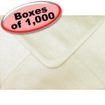 Spectrum Greetings Card Envelope, C6 (114 x 162mm), Pearlescent Champagne - 1,000 Envelopes
