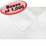 Spectrum Greetings Card Envelope, C6 (114 x 162mm), Pearlescent Oyster White - 1,000 Envelopes