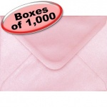 Spectrum Greetings Card Envelope, C6 (114 x 162mm), Pearlescent Shell Pink - 1,000 Envelopes