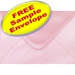 •Sample Spectrum Envelope, C6, Pearlescent Shell Pink