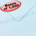 Spectrum Greetings Card Envelope, 130 x 130mm, Baby Blue - 1,000 Envelopes