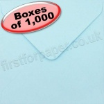 Spectrum Greetings Card Envelope, 130 x 130mm, Pastel Blue - 1,000 Envelopes