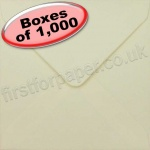 Spectrum Greetings Card Envelope, 130 x 130mm, Cream - 1,000 Envelopes