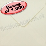 Spectrum Greetings Card Envelope, 130 x 130mm, Ivory - 1,000 Envelopes