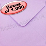 Spectrum Greetings Card Envelope, 130 x 130mm, Lilac - 1,000 Envelopes