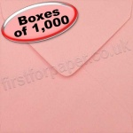 Spectrum Greetings Card Envelope, 130 x 130mm, Pastel Pink - 1,000 Envelopes