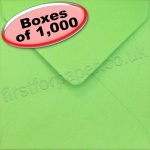 Spectrum Greetings Card Envelope, 130 x 130mm, Fern Green - 1,000 Envelopes