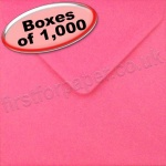 Spectrum Greetings Card Envelope, 130 x 130mm, Fuchsia Pink - 1,000 Envelopes