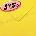 Spectrum Greetings Card Envelope, 130 x 130mm, Golden Yellow - 1,000 Envelopes