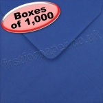 Spectrum Greetings Card Envelope, 130 x 130mm, Iris Blue - 1,000 Envelopes