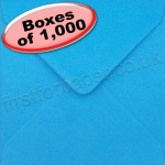 Spectrum Greetings Card Envelope, 130 x 130mm, Kingfisher Blue - 1,000 Envelopes