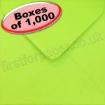 Spectrum Greetings Card Envelope, 130 x 130mm, Lime Green - 1,000 Envelopes