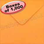 Spectrum Greetings Card Envelope, 130 x 130mm, Orange - 1,000 Envelopes